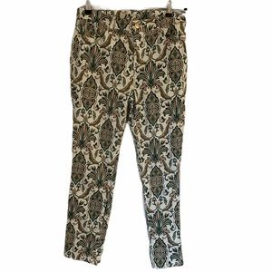 CHICO'S So Slimming Jean Paisley on White Sz 0 (4)